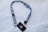 Buffalo Bills Ultra Slim Lanyard, Grey with Blue Trim